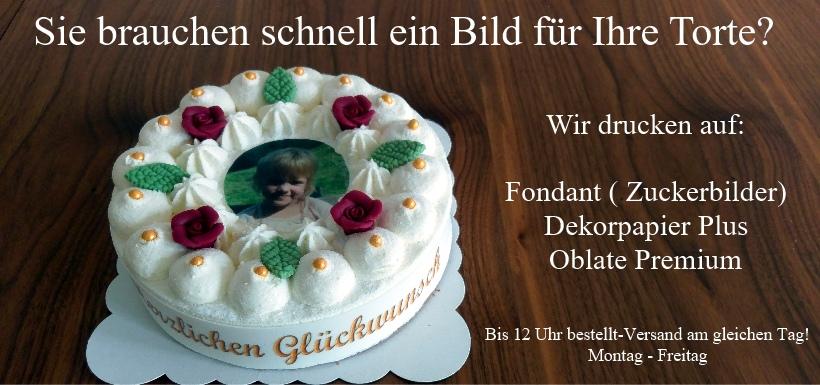 Tortenbilder ab 4,99 € - professionelle Tortenbilder schnell ...